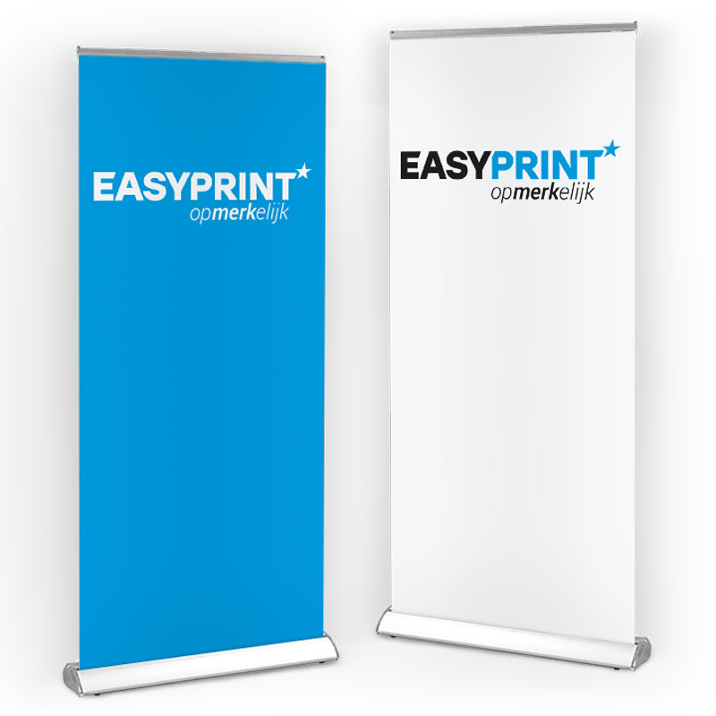 Roll-up banner bedrukt luxe casette
